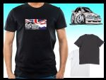 KOOLART CLASSIC BRITISH Design for Retro Mk4 Ford Escort RS Turbo RST mens or ladyfit t-shirt